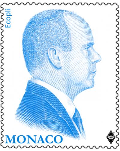 REPRINT OF THE BLUE EFFIGY OF H.S.H. PRINCE ALBERT II