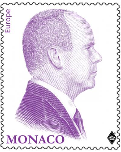 REPRINT OF THE PURPLE EFFIGY OF H.S.H. PRINCE ALBERT II