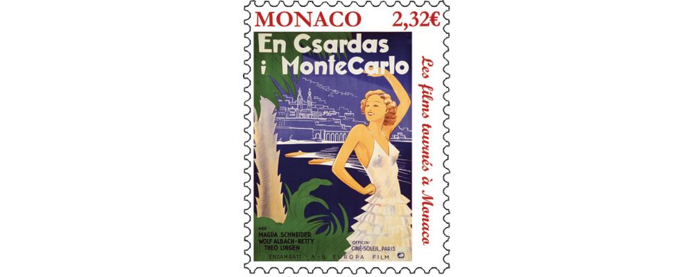 摩纳哥10月2日发行电影《 QUADRILLE DAMOUR》邮票