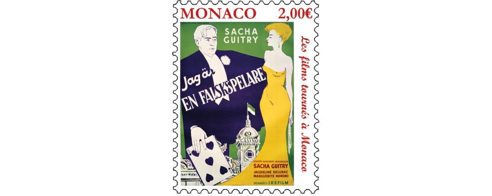 摩纳哥10月2日发行电影《 LE ROMAN DUN TRICHEUR》邮票