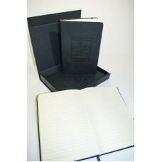 BLACK NOTEBOOK WITH EMBOSSED COVER