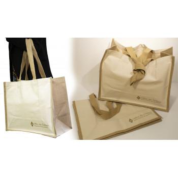 BURLAP AND COTON BAG