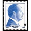 Effigie de profil de S.A.S. le Prince Albert II de couleur bleue