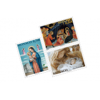 SET OF 3 CHRISTMAS POSTCARDS