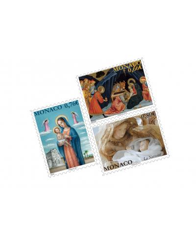 SET OF 3 CHRISTMAS POSTCARDS