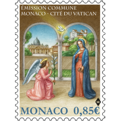 EMISSION COMMUNE MONACO-LE VATICAN : L'ANNONCIATION
