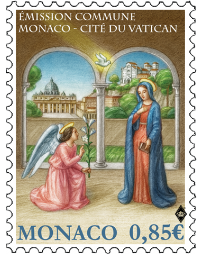 JOINT ISSUE MONACO-VATICAN CITY - THE ANNUNCIATION