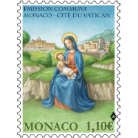 JOINT ISSUE MONACO-VATICAN CITY - THE NATIVITY