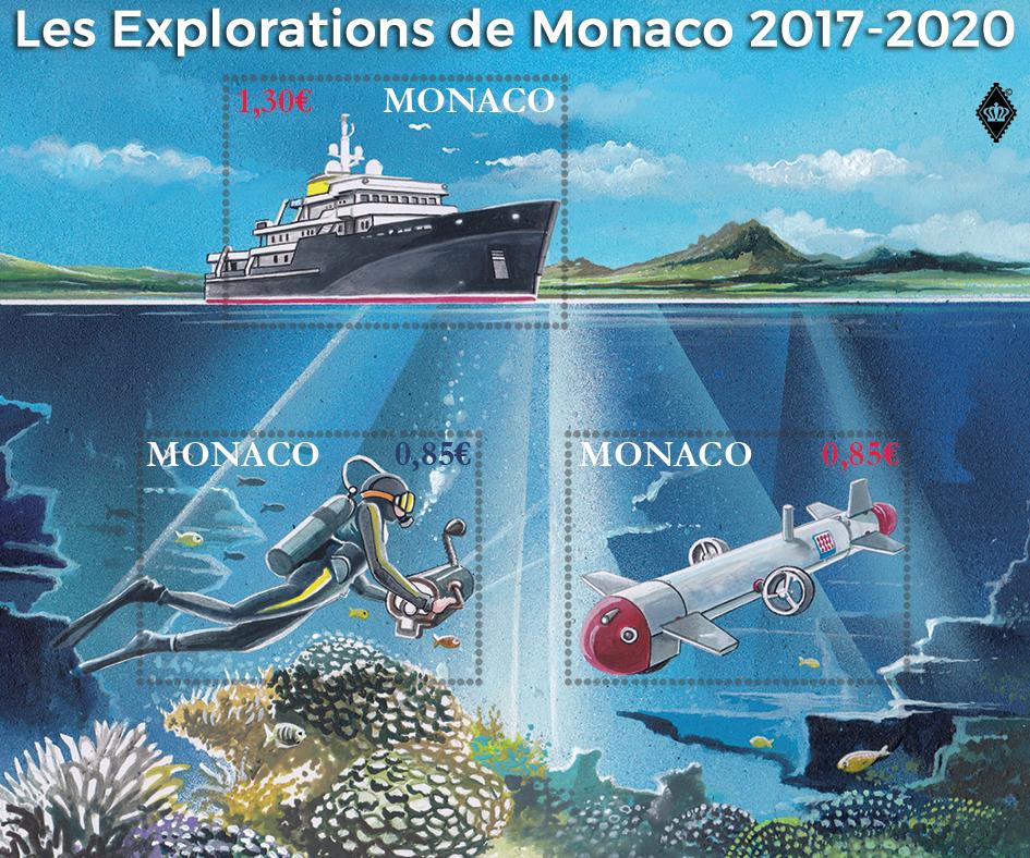 摩纳哥8月21日发行摩纳哥的探索小全张