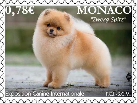 摩纳哥2月8日发行国际犬展邮票