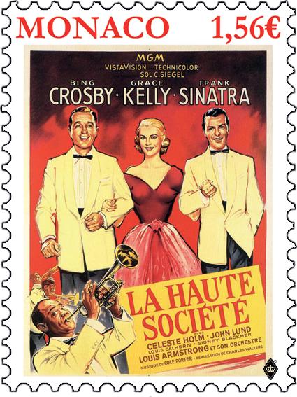摩纳哥1月17日发行格蕾丝凯莉的电影-上流社会邮票