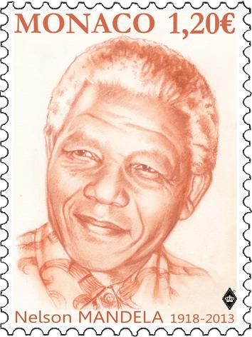 摩纳哥7月18日发行纳尔逊・曼德拉诞辰100周年邮票