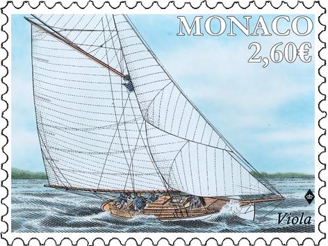 摩纳哥9月10日发行ACHTING - VIOLA邮票