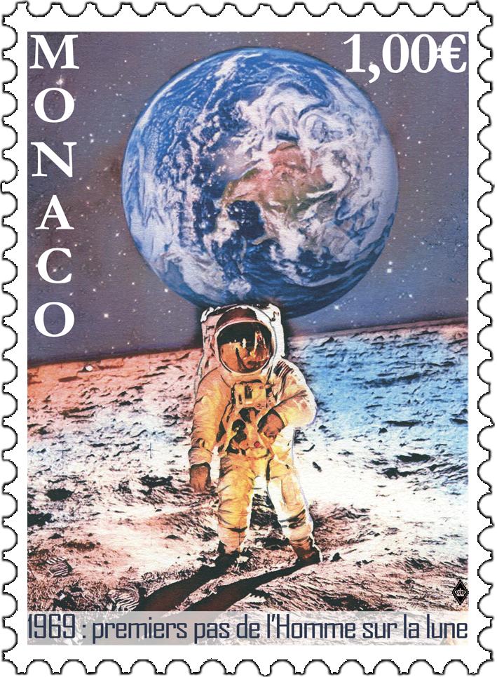 摩纳哥7月5日发行人类登月50周年邮票