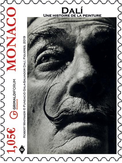 摩纳哥7月5日发行达利-绘画的历史邮票