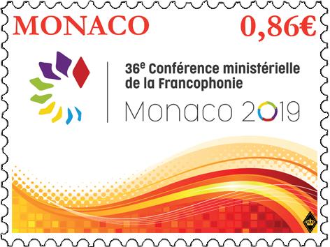 摩纳哥5月29日发行第36届法语国家部长级会议邮票