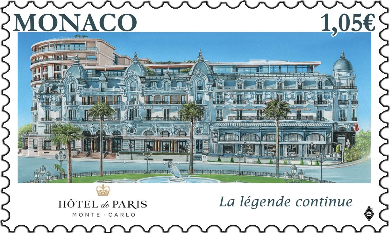 摩纳哥6月20日发行巴黎蒙特卡洛酒店重新开业邮票
